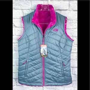 The North Face vest womens mossbud reversible